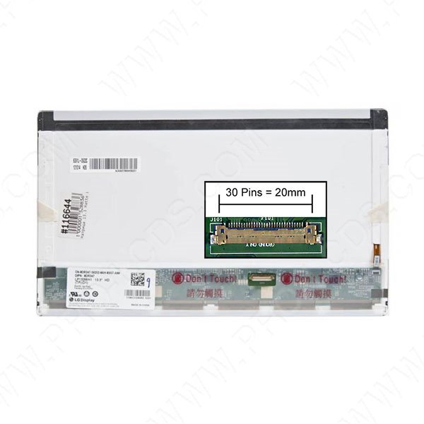 LCD LED screen replacement type Samsung LTN133AT17-102 13.3 1366x768
