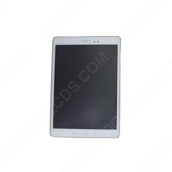 ecran lcd tactile blanc pour samsung tab a 9 7 t550 t555. Black Bedroom Furniture Sets. Home Design Ideas